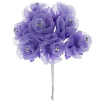 Lavender Organza Rose Pick