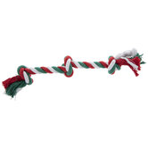 Red, White & Green Rope Dog Toy