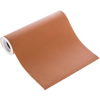 """Cognac Faux Leather Ribbon - 8"""""""