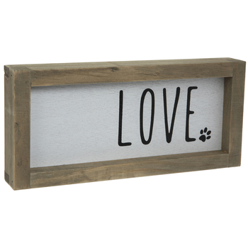 Love Paw Print Wood Decor