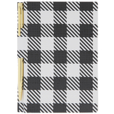 Black & White Buffalo Check Notebook With Pen