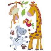 Zoo Animals 3D Stickers