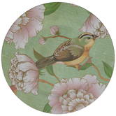 Green & Yellow Bird Floral Plate Charger