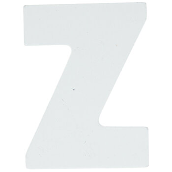 """White Wood Letters Z - 2"""""""