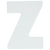White Wood Letters Z - 2