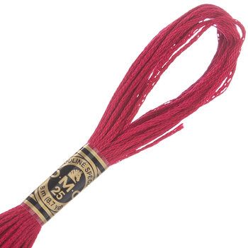 DMC Cotton Embroidery Floss - Red