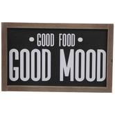 Good Food Good Mood Wood Wall Decor