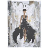 Glam Woman Abstract Canvas Wall Decor