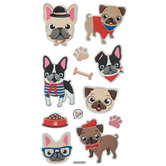 French Bull Dog Foil Stickers