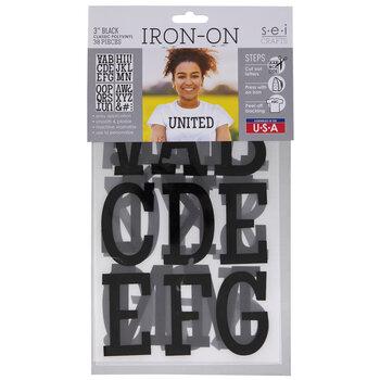 Vinyl Letter Iron-On Applique Alphabet