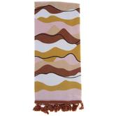 Warm Wavy Stripes Kitchen Towel
