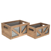 Corrugated Metal Backed Crate Set