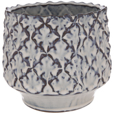 Gray & Brown Diamond Pattern Pot