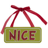 Nice Glitter Word Ornament