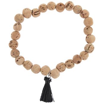 Cork Beaded Diffuser Bracelet