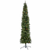 Ultra Slim Cashmere Bristol Pine Pre-Lit Christmas Tree - 9 '