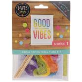 Good Vibes Cross Stitch Wall Flag Kit