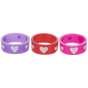 Heart Silicone Rings