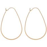 Metal Teardrop Hoop Earrings