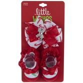 Baby Candy Cane Headwrap & Socks