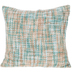 Turquoise & Beige Woven Pillow Cover