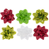 """Red, White & Green Bows - 4 1/2"""""""