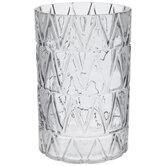 Gray Geometric Glass Vase