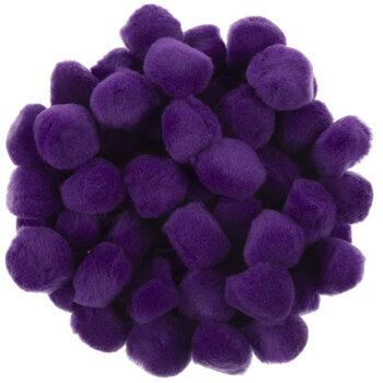 """Purple Pom Poms - 1"""""""