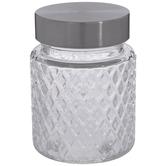 Diamond Textured Glass Jar