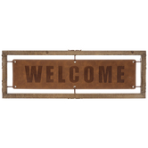 Welcome Faux Leather Wall Decor