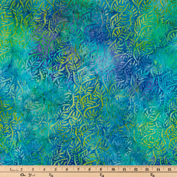 Lagoon Batik Cotton Calico Fabric