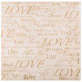 """Gold Wedding Words Scrapbook Paper - 12"""" x 12"""""""