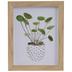 Leaves In Pot Framed Wall Decor