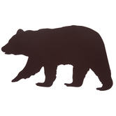 Brown Bear Cutout Metal Wall Decor