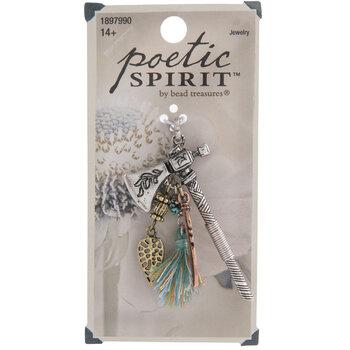 Hatchet With Feather & Tassel Pendant