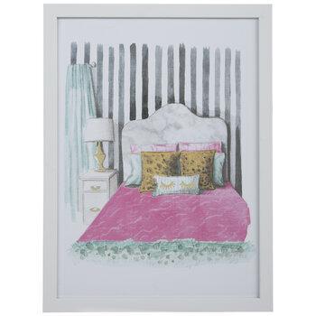 Watercolor Bedroom Framed Wall Decor