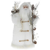 White Winter Suit Santa Claus Tree Topper