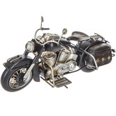 Distressed Black Motorcycle Decor - Small