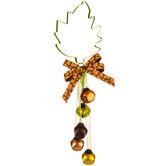 Leaf Metal Door Hanger With Bells