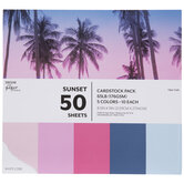 """Sunset Cardstock Paper Pack - 8 1/2"""" x 11"""""""