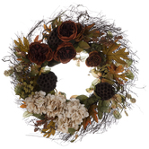 Rose, Hydrangea & Lotus Pod Wreath