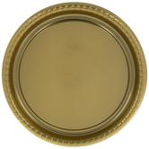 Metallic Gold Round Tray