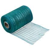 "Metallic Turquoise Deco Mesh Ribbon - 5 1/2"""