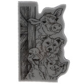 Funny Farm Cling Stamp