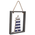 Striped Lighthouse Wood Wall Decor