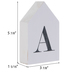 White & Black Letter House Wood Wall Decor - A