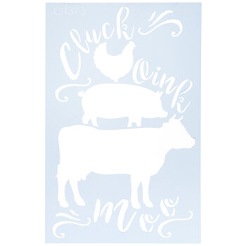 Cluck, Oink & Moo Stencil