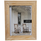 "Antique Brown Wood Wall Frame - 9"" x 12"""
