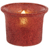 Red Glitter Flickering LED Tea Light Candles