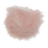 Pink Faux Fur Pom Pom - Large